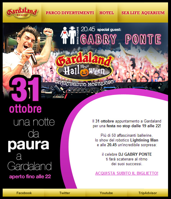 Gabry Ponte: Special Guest al Gardaland Magic Halloween