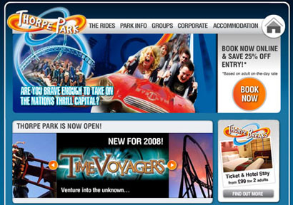 'Time Voyagergs' a Thorpe Park